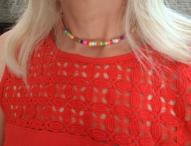 "Kralen Choker Ketting ""Colorburst"""