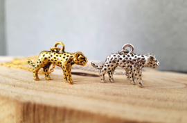 "Luipaard Ketting ""Leopard"" Zilver of Goud"
