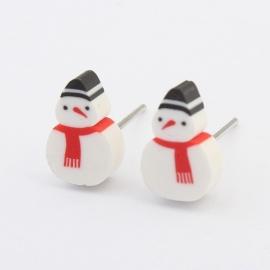 """Oorbellen """"Snowman"""""""