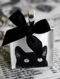 "Ketting ""Peeking Cat"""