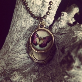 "Medaillon Ketting ""Small Butterfly Locket"""