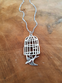 "Vogelkooi Ketting ""One Day I`ll Fly Away"""