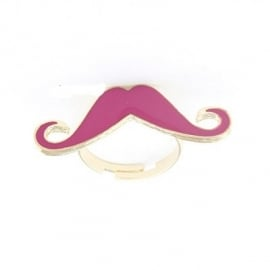 "Snor Ring ""Pink Mustache"""