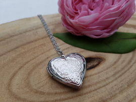 "Medaillon Ketting ""Plain Silver Heart"""