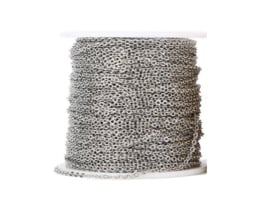 Losse Schakel Ketting (dun) Jasseron  Stainless Steel - Zilver of Goud