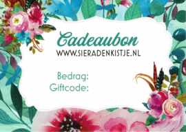 Cadeaubon Sieradenkistje.nl - 5,00 euro