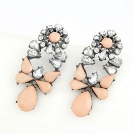 "Oorbellen ""Peachy Tan Stones"""