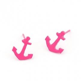 """Anker Oorbellen """"Pink Sailor"""""""