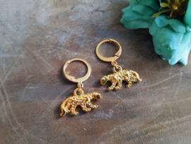 """Luipaard Oorbellen """"Small Leopard"""" Goud"""