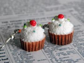 "Oorbellen ""Brown Cupcake"""