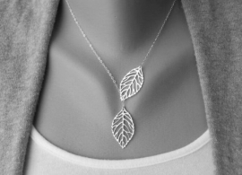 """Ketting """"Silver Leaves"""""""