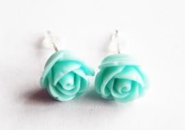 """Oorbellen """"Turquoise Rose"""""""