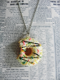 "Donut Ketting ""Bite Me"" Wit"