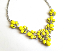 "Statement Ketting ""Yellow Flower"" Geel"