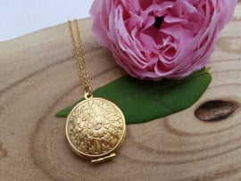 "Medaillon Ketting ""Plain Gold Locket"""