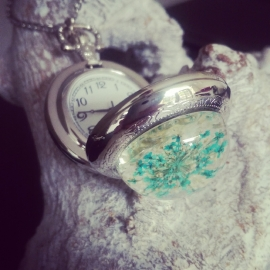 "Zakhorloge Ketting ""Queen Anne's Lace"" Medium"