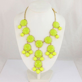 "Statement Ketting ""Big Bubbles"" Yellow"