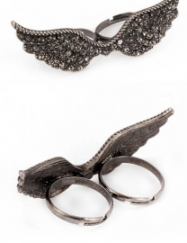 """Two Finger Ring """"Be MY Angel"""""""
