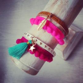 """Festival / Ibiza Style Armband """"Pompon"""""""