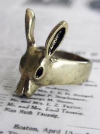 """Hert Ring """"Cute Deer"""" Goudkleurig"""