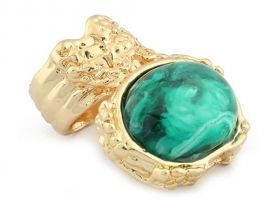 "Ring ""Emerald Green Artsy Ring"""