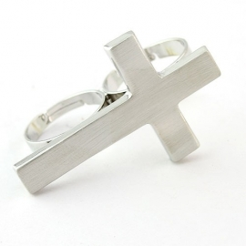 "Two Finger Ring ""Cross"""