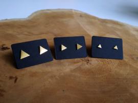 "Subtiele Oorbellen ""Gold Triangle"""