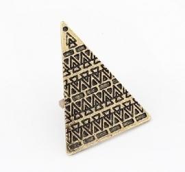 """Ring """"Aztec Pyramid"""" Bronskleur"""