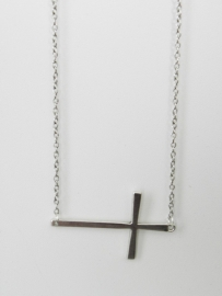 "Kruis Ketting  ""Large Sideways Cross"""