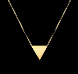 "Ketting ""Small Triangle"" Silver Plated of Gold Plated"