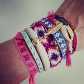 """Ibiza Armband """"Mint & Ivory Feather"""""""