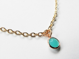 "Ketting ""Tiny Light Turquoise Stone"""