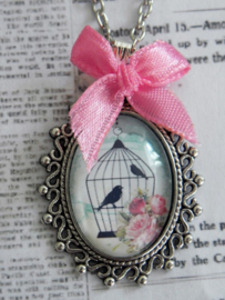 "Ketting ""In A Glass Bird Cage"" Blue"