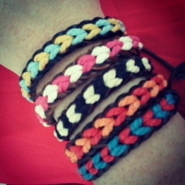 "Armbandje ""Braided Friendship"