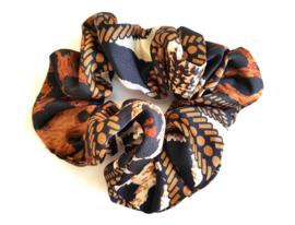 """Scrunchie """"Rope Chain Print"""" Bruin"""