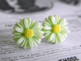 "Oorstekers ""Light Green Daisy"""