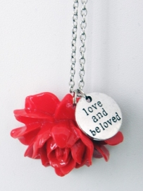 "Ketting ""Beloved Flower"" Rood"