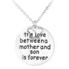"""Tekst Ketting """"Mother and Son"""""""