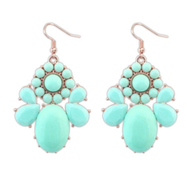 """Oorbellen """"Turquoise Flowers"""""""
