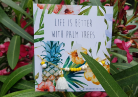 "Enkelbandje ""Life Is Better With Palm Trees"" (met of zonder kaartje)"