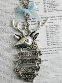 """Hert Ketting """"Oh My Deer"""" Zilverkleur"""