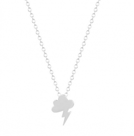 "Subtiele Wolk Ketting ""Cloud"" Silver Plated"