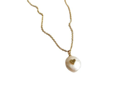 "Parel Ketting ""Love Pearl"" Stainless Steel"