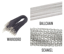Losse Ketting - Schakel, Ballchain of Waxkoord