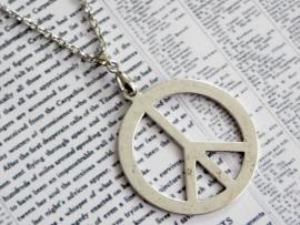 """Ketting """"Large Peace"""" met groot peace teken"""