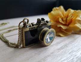 "Camera Ketting ""Say Cheese!"" Zwart of Blauw"