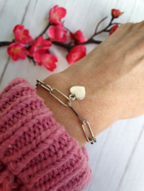 "Grove Schakel Armband ""Paperclip Heart"""