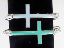 "Ibiza Kruis Armband ""Enamel Cross"""
