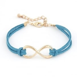 "Infinity Armband ""Gold & Blue Infinity"""