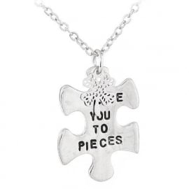 """Tekst Ketting """"Love You To Pieces"""""""